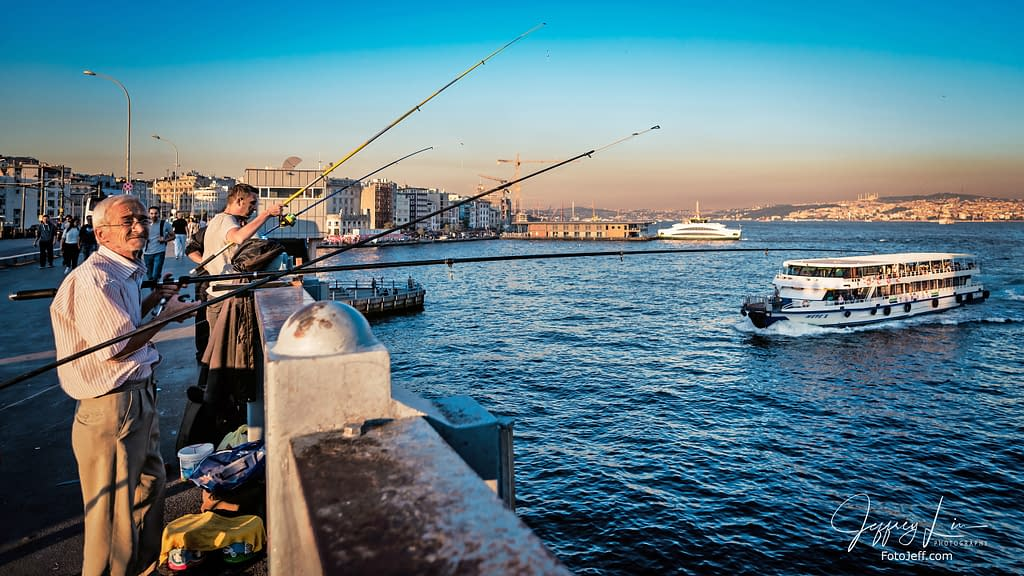 63. Galata Bridge Anglers
