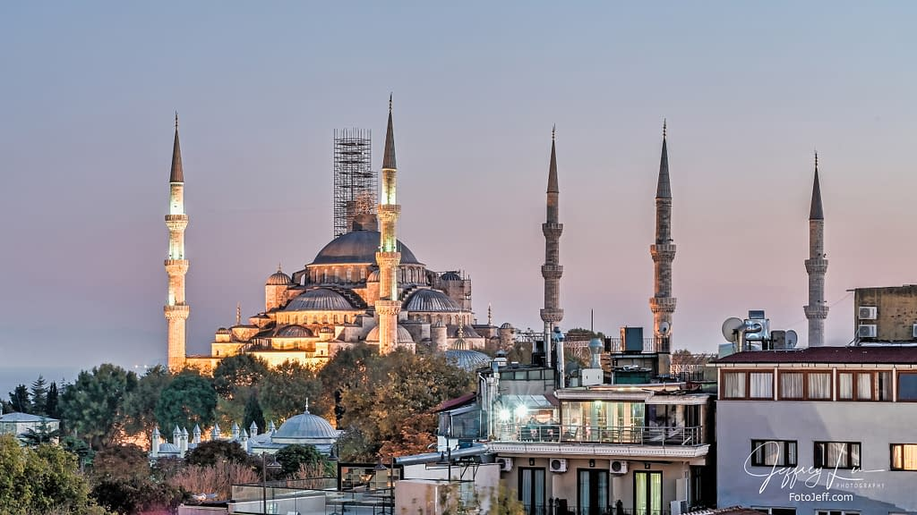 91. Blue Mosque at Dawn