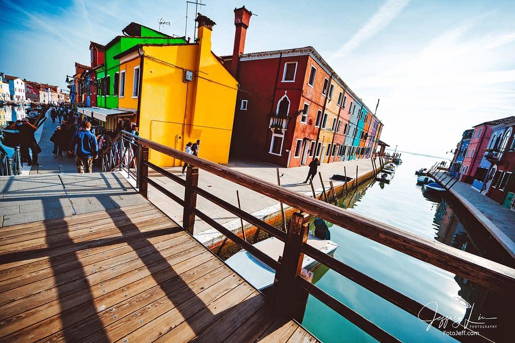 44. The Famous Wooden Bridge (Tre Ponti) in Burano