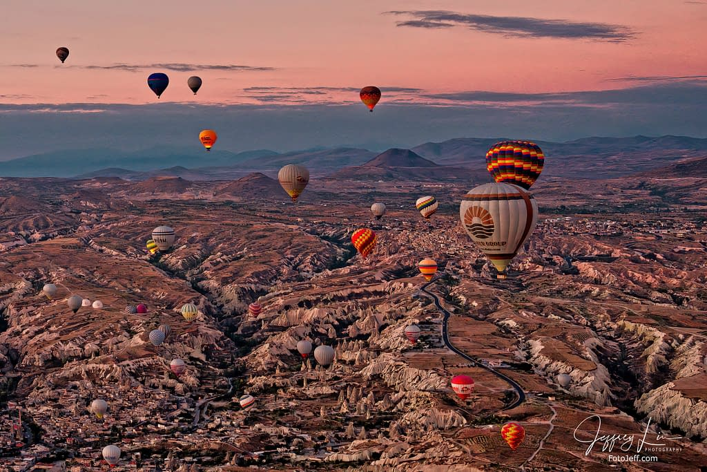 8. 6:34 am - Incredibly Scenic from Hot Air Balloon Cappadocia