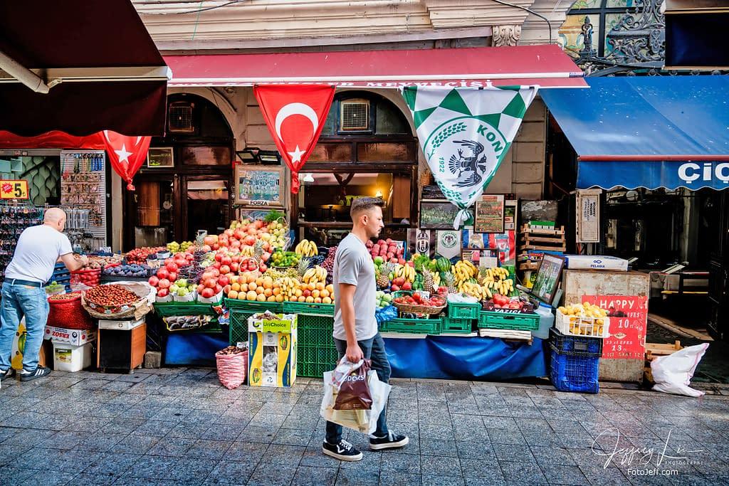 8. Football or Fruit Stall?