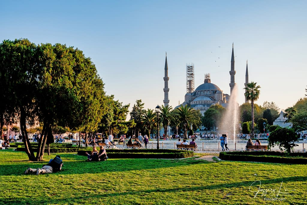 120. Blue Mosque and Sultan Ahmad Maydan Fountain