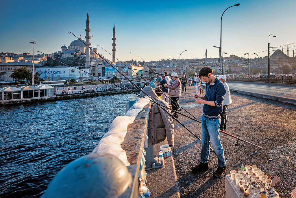 59. Galata Bridge Anglers