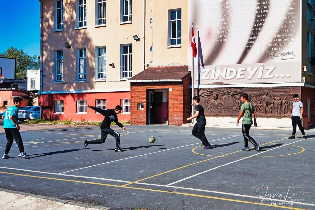 93. High School Students Play Soccer