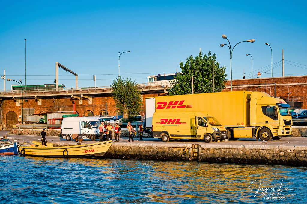 4. DHL Delivery Boat in Venice