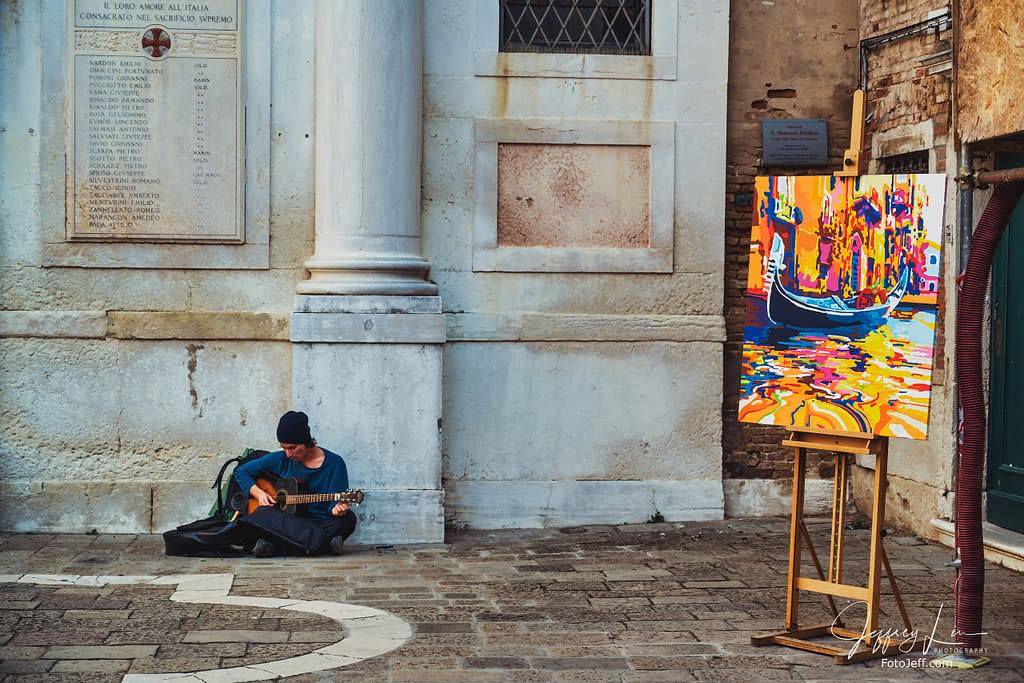 24. A Street Artist in Venice