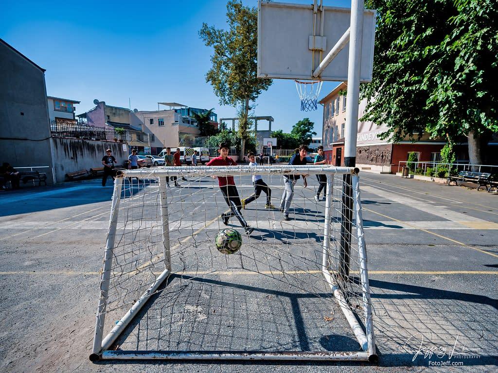 94. High School Students Play Soccer